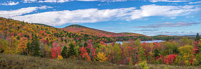 Photograph - Maine Fall Landscape by Mark Papke