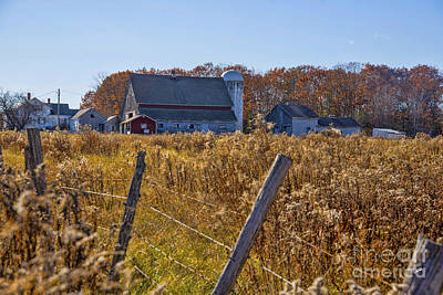 Photograph - Maine Farm In The Fall by Alana Ranney