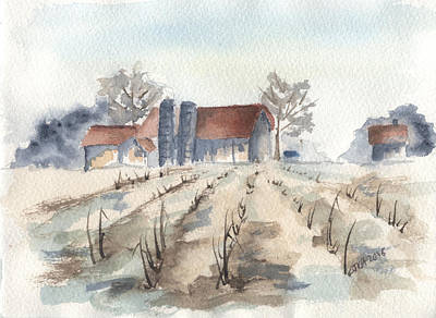Painting - Maine Farm by Jan Anderson