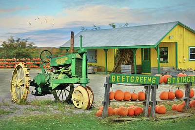 Farm Stand Photograph - Maine Farm Market by Lori Deiter