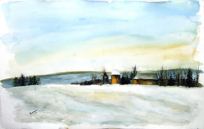 Painting - Maine Farmland by Jan Anderson