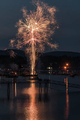 Photograph - Maine Fireworks #1 by Thomas Pettengill