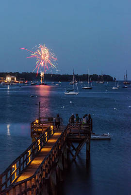 Photograph - Maine Fireworks #2 by Thomas Pettengill