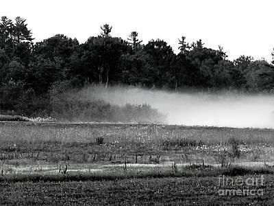 Photograph - Maine Fog Rolls In  by Expressionistart studio Priscilla Batzell