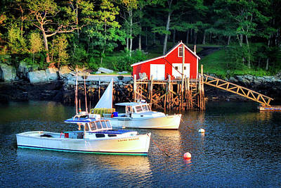 Photograph - Maine Harbor At Dusk by Carolyn Derstine