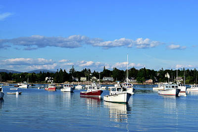 Photograph - Maine Harbor No. 4-1 by Sandy Taylor