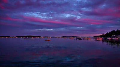 Photograph - Maine Harbor Sunset #2 by Stuart Litoff