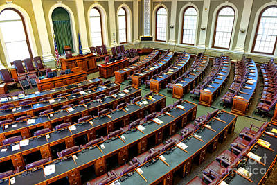 Maine House Of Representatives Chamber Art Print by Olivier Le Queinec