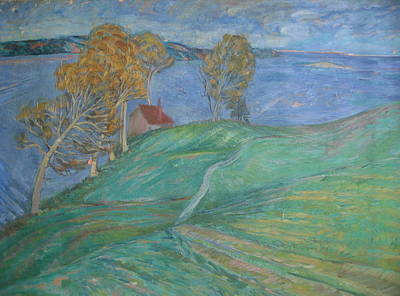 Wall Art - Painting - Maine Landscape by Inge Klimpt