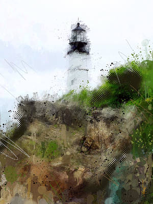 Maine Lighthouse Art Print by James Metcalf