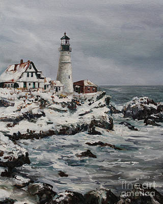 Painting - Maine Lighthouse by Kristine Kainer