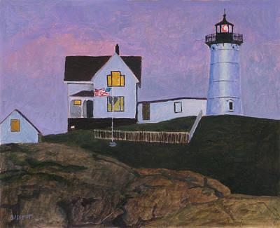 Maine Lighthouse Art Print by Robert Bissett