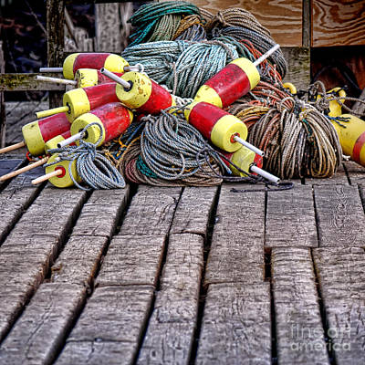 Maine Lobsterman Gear Art Print by Olivier Le Queinec