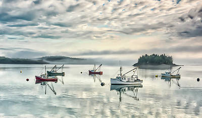 Photograph - Maine Mooring  by Thomas Pettengill