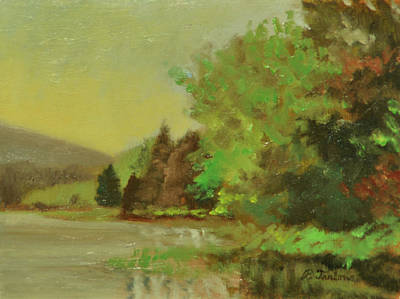 Maine Landscapes Painting - Maine Morning by Phyllis Tarlow