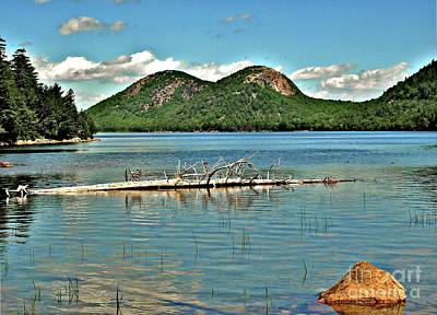 Photograph - Maine Mountains Hdr by Raymond Earley