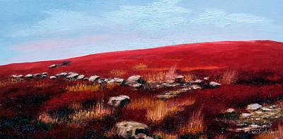 Stonewall Painting - Maine October Blueberries by Laura Tasheiko
