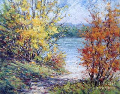 Maine October Art Print by Vickie Fears