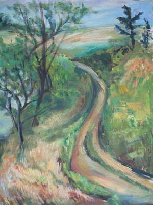 Wall Art - Painting - Maine Pathway by Inge Klimpt