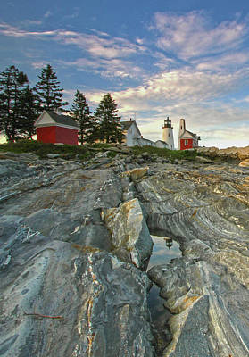 Photograph - Maine Pemaquid Point Lighthouse by Juergen Roth
