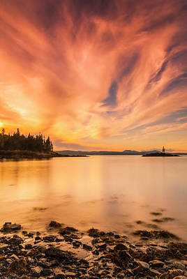 Photograph - Maine Penobscot Bay Sunset by Ranjay Mitra