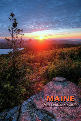 Digital Art - Maine Poster by Patrick Groleau