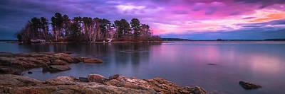 Photograph - Maine Pound Of Tea Island Freeport Sunset by Ranjay Mitra