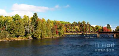 Photograph - Maine Rail Line by Sandy Molinaro