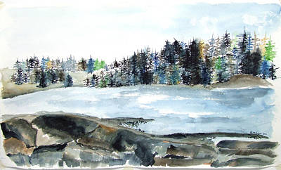 Painting - Maine River Inlet by Jan Anderson