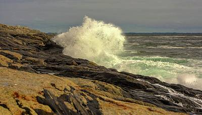 Photograph - Maine Seacoast by Sherman Perry