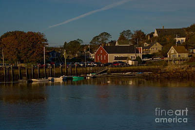 Photograph - Maine- Seaports In Fall by April Bielefeldt