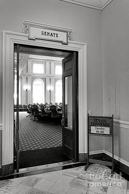 Maine Senate Chamber Doorway Art Print by Olivier Le Queinec