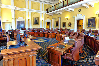 Photograph - Maine Senate Chamber by Olivier Le Queinec