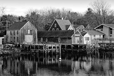 Photograph - Maine Shacks And Piers by Betty Denise