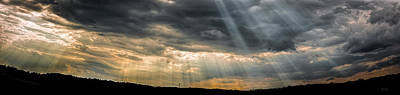 Photograph - Maine Skyscape God Rays Over Auburn by Bob Orsillo