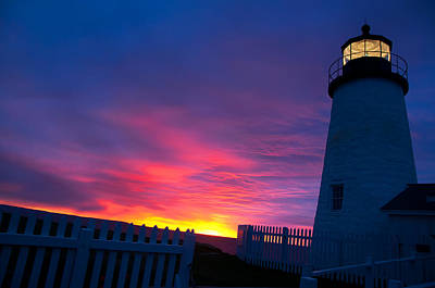 Photograph - Maine Lighthouse Sunrise by Braden Moran