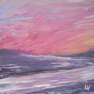 Maine Sunset Art Print by Lynne Vokatis