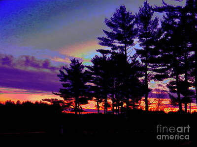 Painting - Maine Sunset Scape by Expressionistart studio Priscilla Batzell