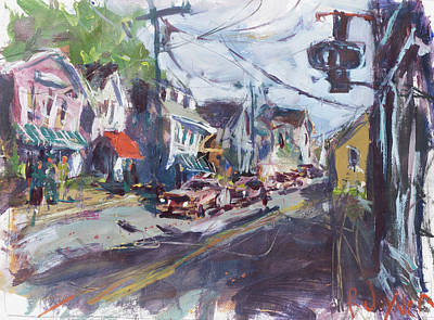 Painting - Maine Townscape by Robert Joyner