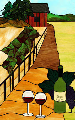 Maine Vineyard Art Print by Jane Croteau