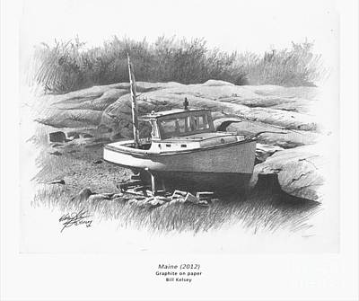 Maine Landscapes Drawing - Maine by William Kelsey