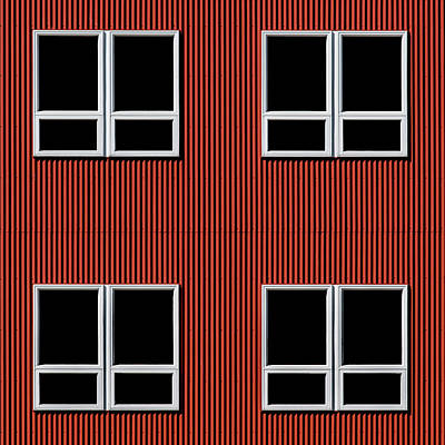 Maine Windows 3 Art Print