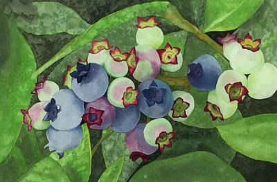 Wall Art - Painting - Maine's Blue Gems by Carol P Sullivan