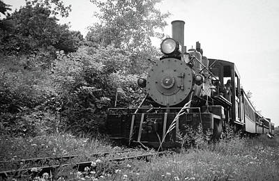 Photograph - Maine's Narrow Gauge Railway Bw  by Debra Forand