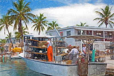 Photograph - Conch Key Vessel Mainly Lobster 3 by Ginger Wakem