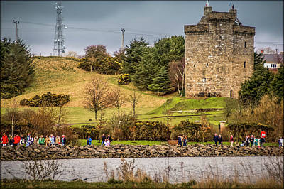 Photograph - Mains Castle East Kilbride, Scotland by Alex Saunders