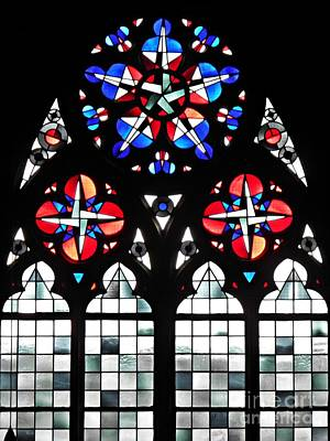 Photograph - Mainz Cathedral Window by Sarah Loft