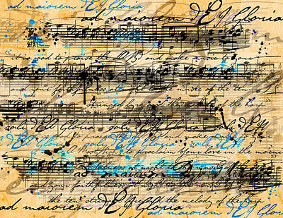 Sheet Music Digital Art - Maiorem by Gary Bodnar