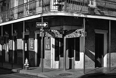 Photograph - Maison Bourbon Jazz Club - New Orleans - B/w by Greg Jackson