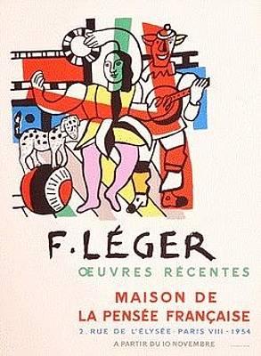 Mourlot Painting - Maison De La  Pensee Francaise by Fernand Leger